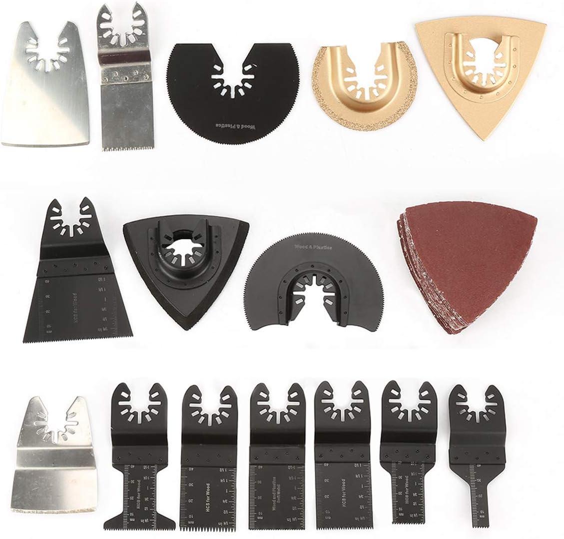 set Hoja de sierra oscilante Kit de herramientas m/últiples Kit de sierra oscilante multifuncional Kit web Herramientas el/éctricas Reparaci/ón de accesorios de m/áquina 40pcs
