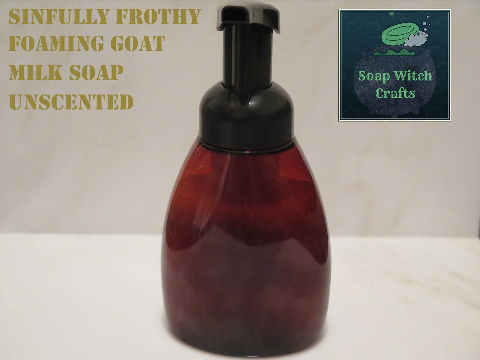 Sinfully Frothy Foaming Goat Milk Soap - Unscented