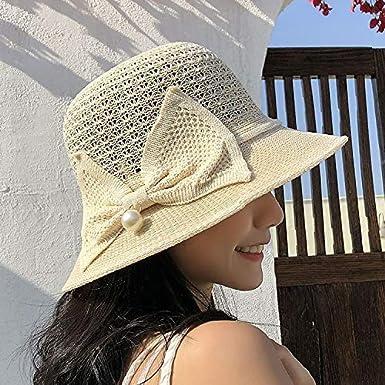 Sombrero de Playa de Verano para Mujer Sombrero de Paja para Mujer ...