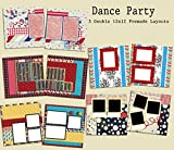 Dance Party Scrapbook Set - 5 Double Page Layouts