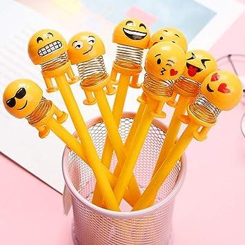 Gudotra 30 pcs Bolígrafo de Gel de Emoji Pluma Conjunto Emoji Divertido Bolígrafo Detalles Invitaciones Regalos Papelería Cumpleaños Niños