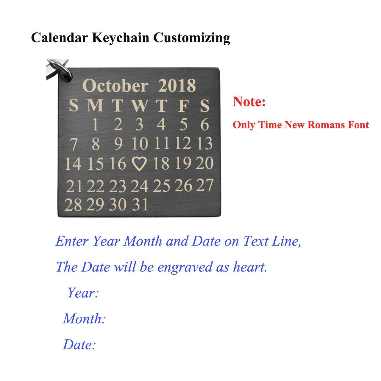 Amazon.com: Jovivi - Llavero personalizado con calendario ...