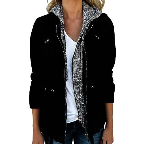 iBaste giacca luce giacca Übergangsjacke Kurzjacke rivestimento di autunno per le donne e le ragazze