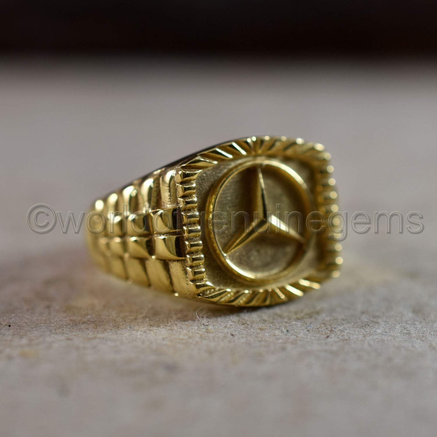 designer silver band Mercedes benz symbol ring valentine/'s day gift ring anniversary gift for him yellow gold ring 925 sterling silver father/'s day gift ring customized mercedes ring