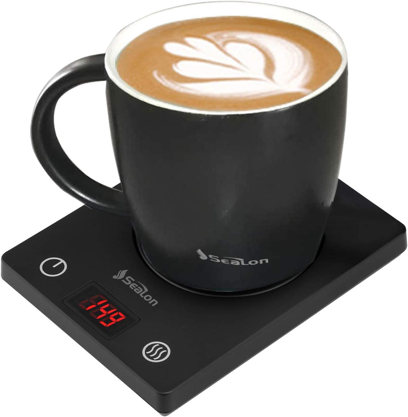 Smart Coffee Mug Warmer Set Auto On/Off Gravity-induction Mug Office Desk Use, Candle Wax Cup Warmer Heating Plate (Up To 149F/65C), 18.5oz