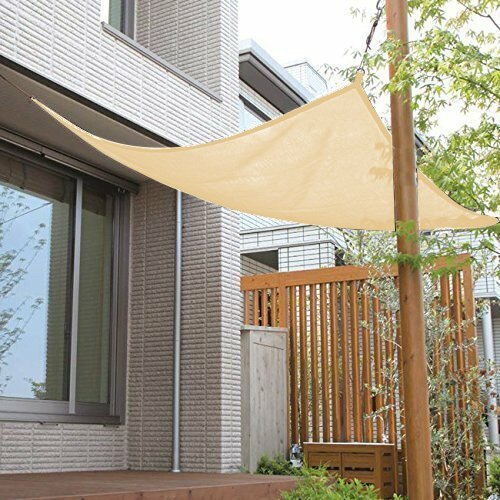 Shatex 90% Wheat 12x12ft New Design Hanging-up Sunblock shade panel for Window/RV Awning, Sun shelter,Patio (Knitted Shade Panel)