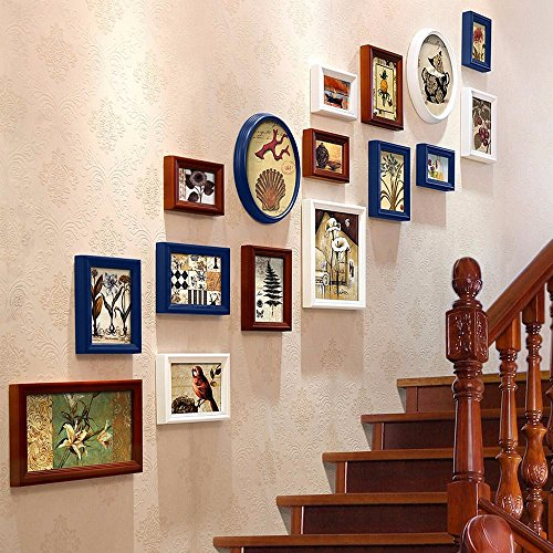 WUXK European-style staircase photo wall creative 楼 wall photo frame photo wall combination wedding gift, by WUXK