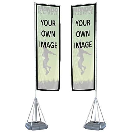Amazon com : Personalized Mondo Flag 17ft - Double-Sided