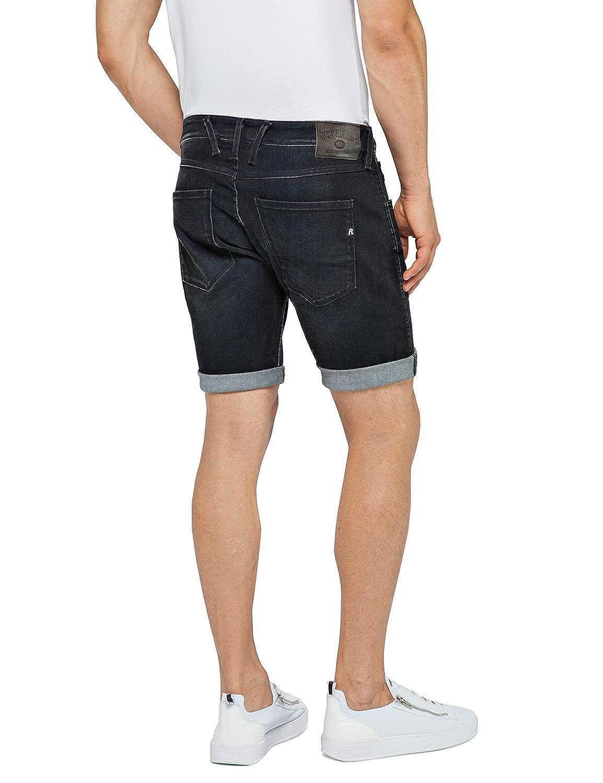 Luxus-Ästhetik Rabattgutschein Einkaufen Replay Men's Stretch Denim Shorts Black: Amazon.co.uk: Clothing