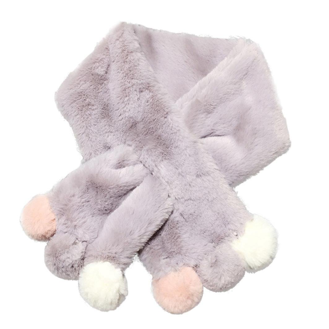 Molyveva New Winter Baby Cotton Hairballs Scarf Cute Soft O Ring Neck Scarves