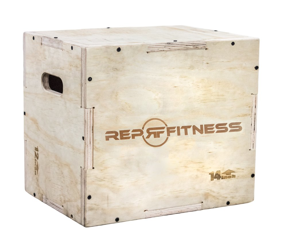 Rep 3 in 1 Wood Plyometric Box for CrossFit and Conditioning 30/24/20, 24/20/16, 20/18/16, 16/14/12