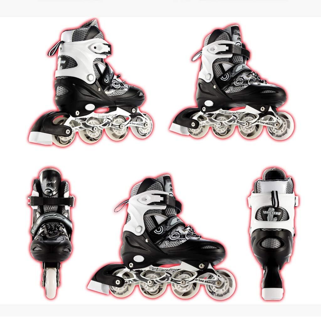 YANGXIAOYU Einstellbare Rollschuhe, Rollschuhe, Rollschuhe, Inline-Skates Einstellbare Größe Vollblitzrad, Geeignet Für Jugendliche Erwachsene Anfänger Fünf Farben B07QKBN44Q Inline-Skates Im Freien b2f063