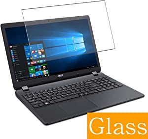 """Synvy Tempered Glass Screen Protector for Acer Aspire ES1-533 / ES1-571 / ES1-572 15.6"""" Visible Area 9H Protective Screen Film Protectors (Not Full Coverage)"""