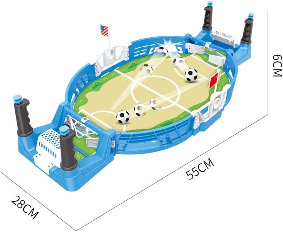 LiPengTaoShop Futbolín Mesa De Fútbol Juguetes para Niños Escritorio Pequeña Mini Máquina De Fútbol Doble Batalla Regalo De Cumpleaños Juego Máquina De Fútbol (Color : Blue, Size : 55 * 28 * 6cm): Amazon.es: Hogar