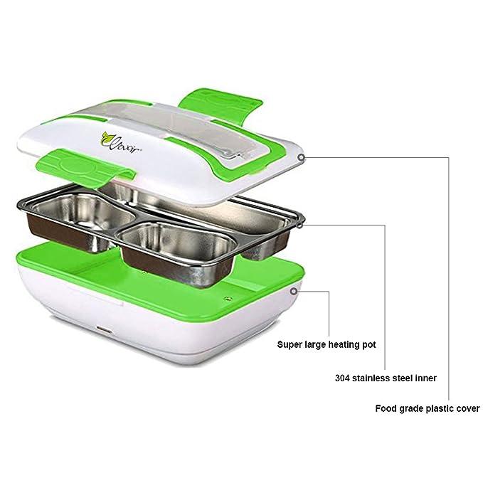 HJJL tartera electrica coche multifuncion fiambrera mechero 12V calentador de comida (verde,): Amazon.es: Hogar