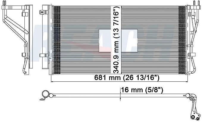 AC Condenser For Kia Rondo 2.4 2.7 3658