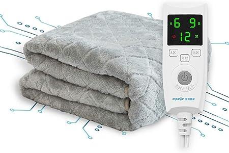 Manta eléctrica, Control de Temperatura de Doble Zona, sincronización Inteligente, protección contra sobrecalentamiento, función de Apagado automático, Cubierta de colchón de calefacción: Amazon.es: Hogar