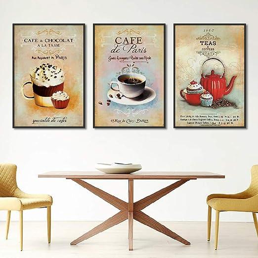 adgkitb canvas Cartel nórdico Vintage Moderno t café Postre ...