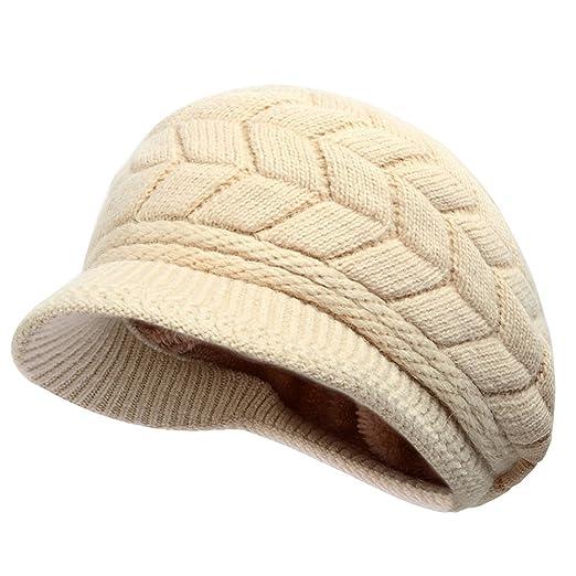3 opinioni per Thenice Cappello di lana con visiera Donna Invernale Hat, Taglia unica (Beige)
