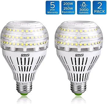 2-Pack Sansi A21 22W Ceramic LED Light Bulbs