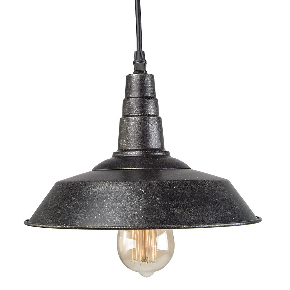 LNC Blackened Steel Pendant Lighting Indoor Pendant Lights Ceiling ...