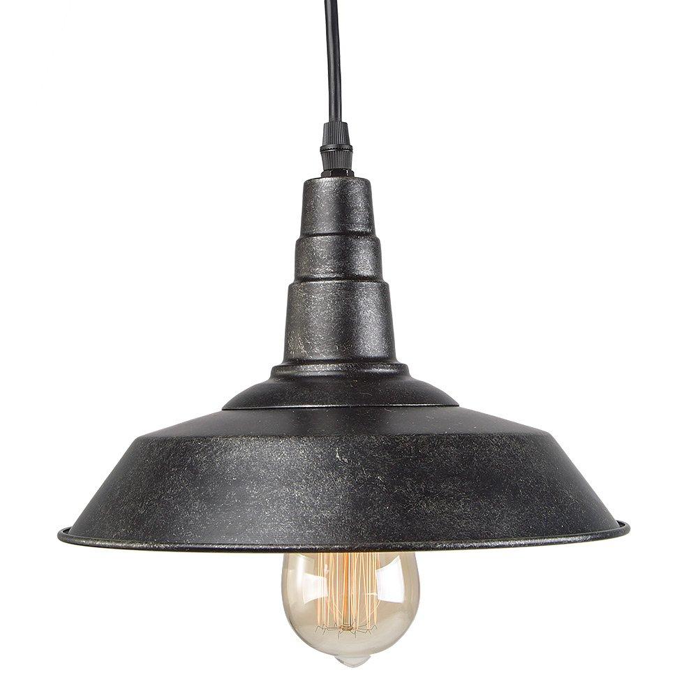 LNC Blackened Steel Pendant Lighting Indoor Pendant Lights Ceiling Barn Light Warehouse