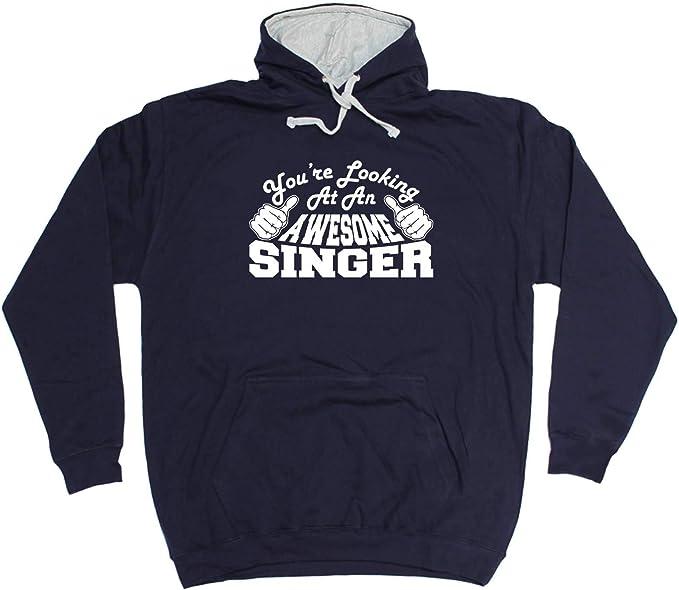 SINGING MAN  Funny Hoodie Gift Novelty Joke Jumper Top