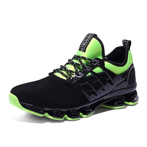 Zapatillas Running Calzados Deportivo Casual Sneakers Zapatos Correr para  Hombre Mujer Negro Rojo Verdes 38-45  Amazon.es  Zapatos y complementos 51d2720ef7c73