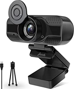 Webcam with Microphone,1080P HD Webcam Desktop or Laptop, Streaming Webcam for Computer Widescreen Video Calling and Recording, USB Web Camera Built-in Mic, Flexible Rotatable Clip and Tripod…
