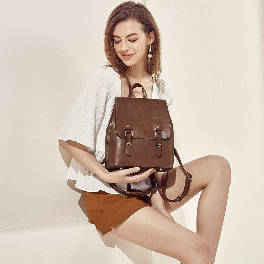 Designers Shoulder Bag Ladys Luxury Backpack Retro-Academic Style Brown