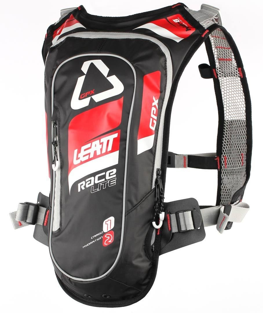 Leatt GPX 2.0 Race HF Hydration Pack-Red/Black 7016100120