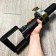Metal Arm Wrestling Exercise Handle, Forearm Wrist Arm Blaster Exerciser, 1m Webbing Knurling Surface 200kg Be