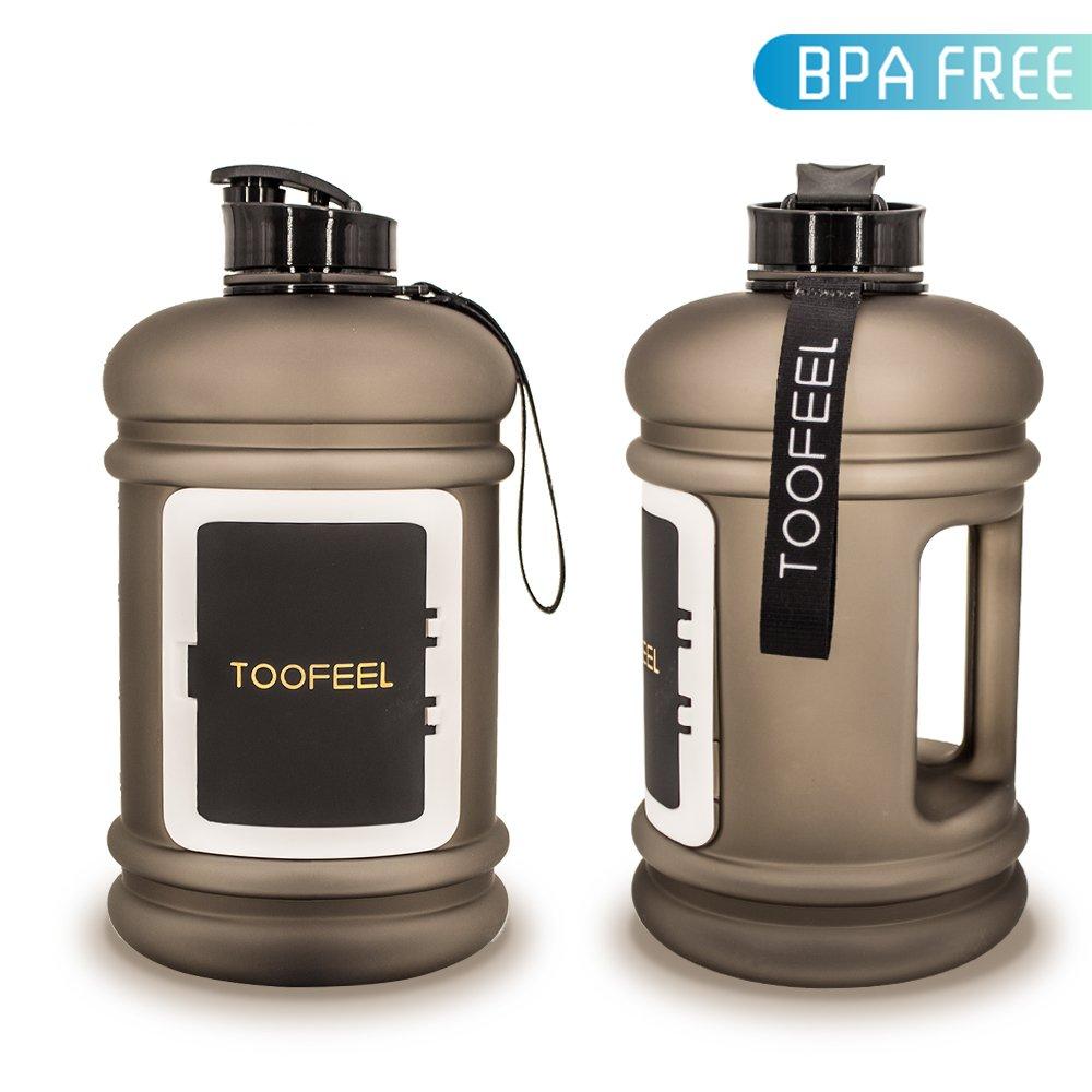 TOOFEEL Sport Wasser Krug 2.2L Big Wasser Flasche BPA-Frei 73oz Hot Cold Tritan Großer Krug Trinken Kantinen mit Geld/Karte/Schlüssel Schublade Shaker Flasche für Camping & Wandern Training