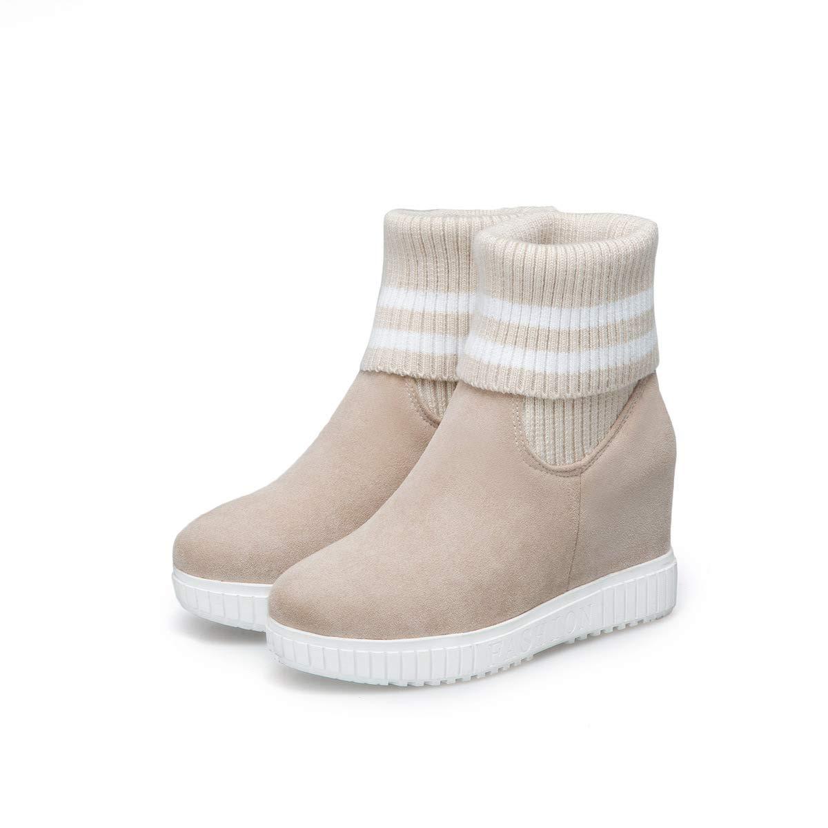 Dicker Dicker Dicker Chunky Heel-Absatz aus Knitting Mid für Damen 323586