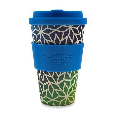 ECO FRIENDLY ORGANIC BAMBOO ECOFFEE Travel Mug 14oz Design Swirls