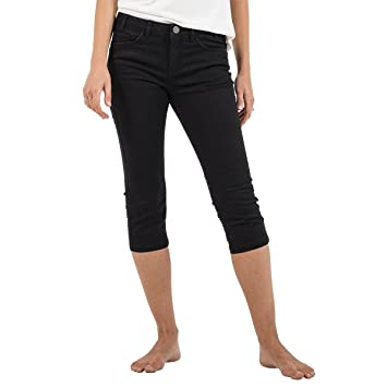 Oxbow K1rimella Pantacourt uni Coton Stretch Femme  Amazon.fr ... d8944c2f9f3