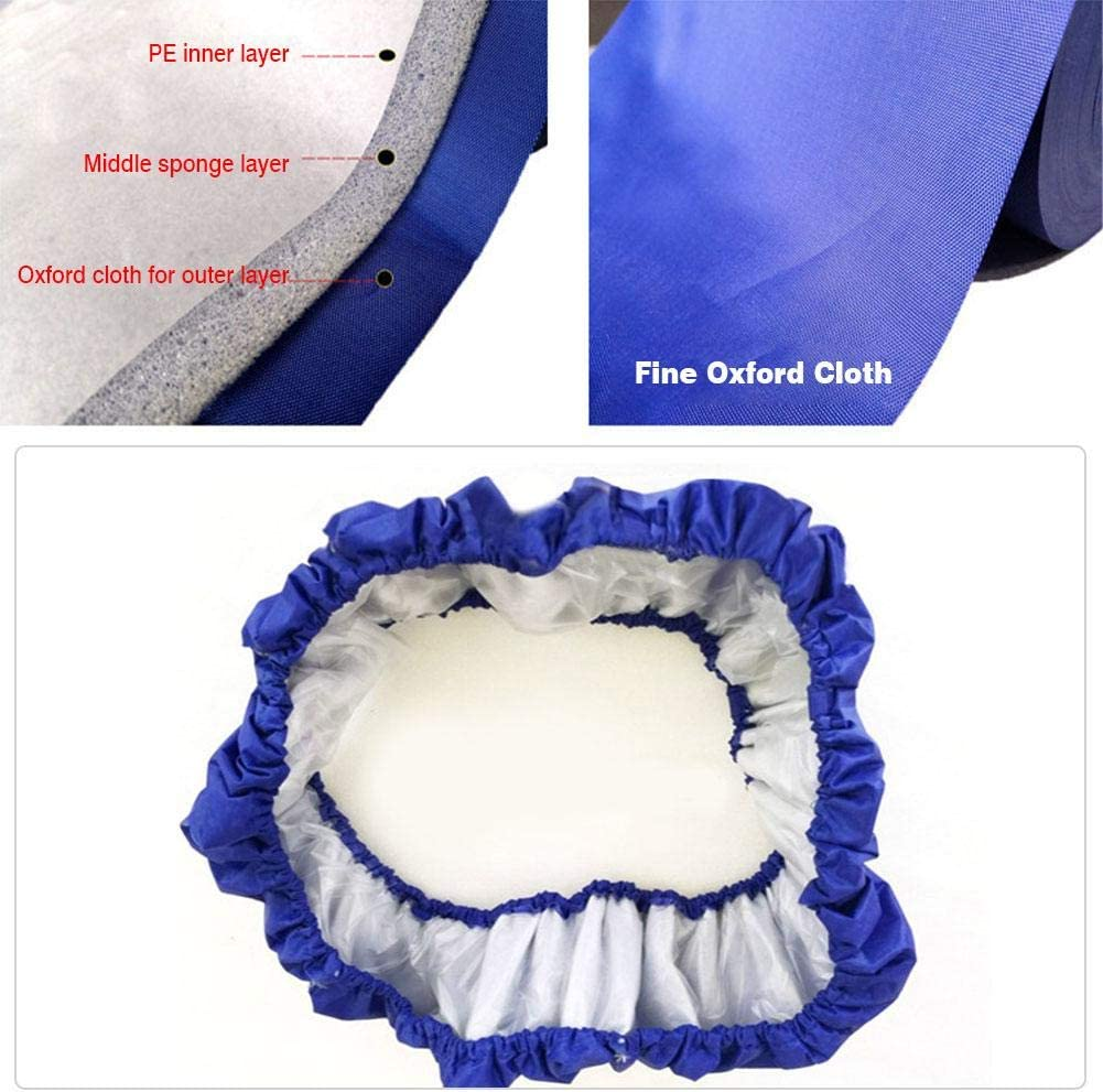 Zihui 3 Pies 4 Pies 5 Pies Ni/ños Trampol/ín Al Aire Libre Almohadilla Envolvente De Repuesto para Trampol/ín Azul Almohadillas Acolchadas De Espuma con Protector De Seguridad Y Resorte