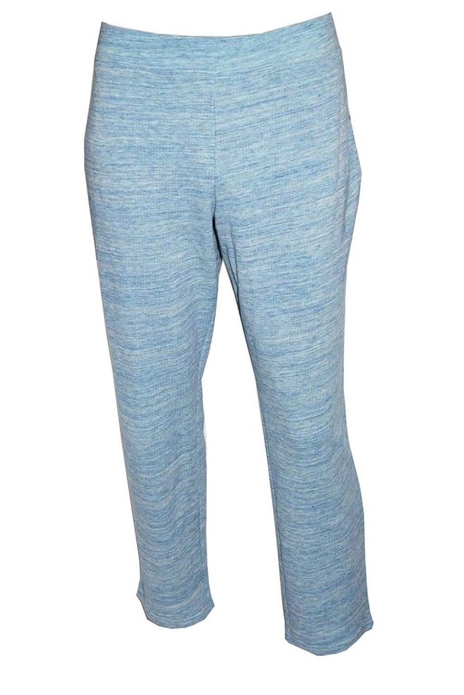 Style&co Plus Sport Women Marled Active Pants Grey/aqua Shell (1x)