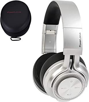 PowerLocus Bluetooth Auriculares Diadema P3,[Bluetooth 5.0,40h de música] Cascos Bluetooth Inalámbrico Plegable Casco Bluetooth y Audio Cable Sonido