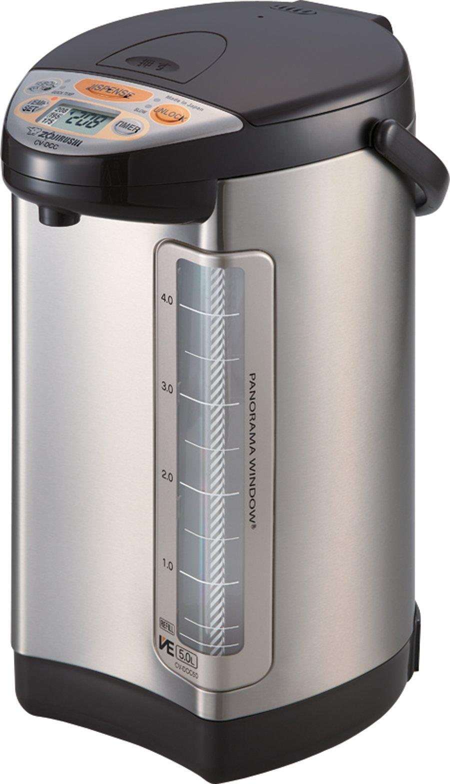 Zojirushi 586362-CV-DCC50XT America Corporation Ve Hybrid Water Boiler And Warmer, 5-Liter, Stainless Dark Brown (Renewed) by Zojirushi