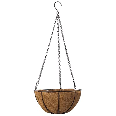 "10"" Coco Wire Hanging Basket by OakRidgeTM: Garden & Outdoor"