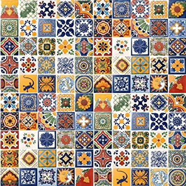 100 Hand Painted Talavera Mexican Tiles 4 x4  Spanish Influence