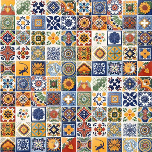 100 Hand Painted Talavera Mexican Tiles 4