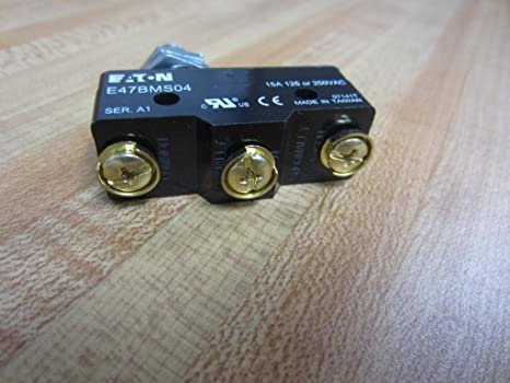 Eaton Cutler Hammer E47BMS04 Limit Switch 15a 125v 250v Extended Plunger OEM USA