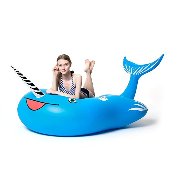 Amazon.com: Inflatable Pool Float, 114 inch Length Giant Inflatable Unicorn with Rapid Valves Pool Toys for Adults and Kids Blow Up Summer Beach Party Toys ...