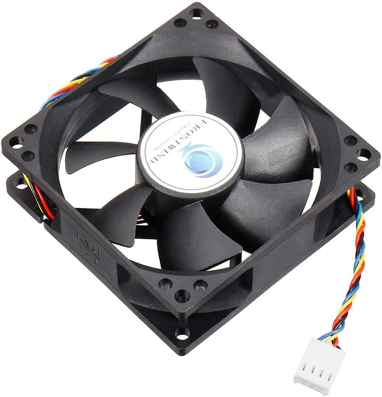 Lekai Hard Comfortable Shockproof Protective case 80mm 4-pin Cooling Fan 8025 4-pin The Fan is Reliable in Quality and has a Long Service Life.