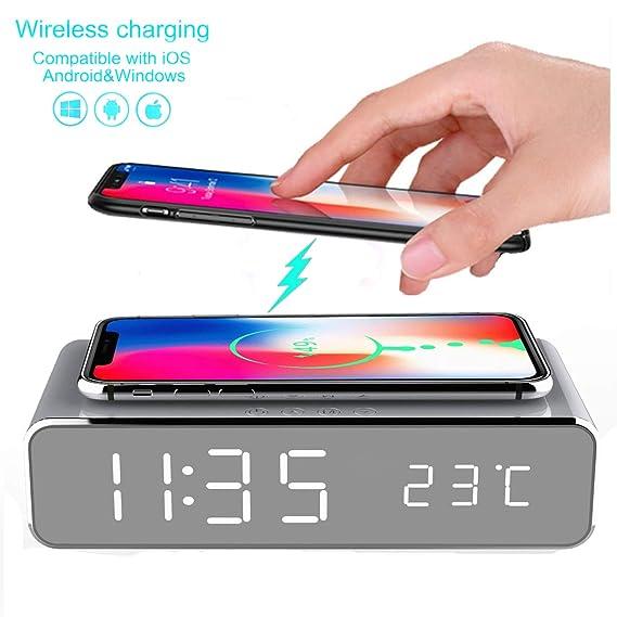 HSXOT Reloj Despertador Eléctrico Led con Teléfono Móvil ...