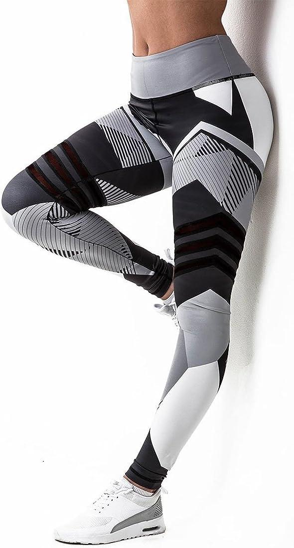 Ladies Compression Leggings Stretch Patr/ón Deporte Aire Libre Gym Workout Leggings Inlefen Mujeres Alta Cintura Fitness Yoga Pantalones