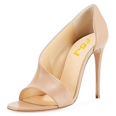 e67fd970f3189 Amazon.com | FSJ Women Sexy Stiletto High Heels Pumps Open Toe ...