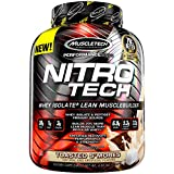 MuscleTech NitroTech Protein Powder Plus Muscle Builder, 100% Whey Protein with Whey Isolate, Toasted S'mores, 40 Servings (4lbs) For Sale